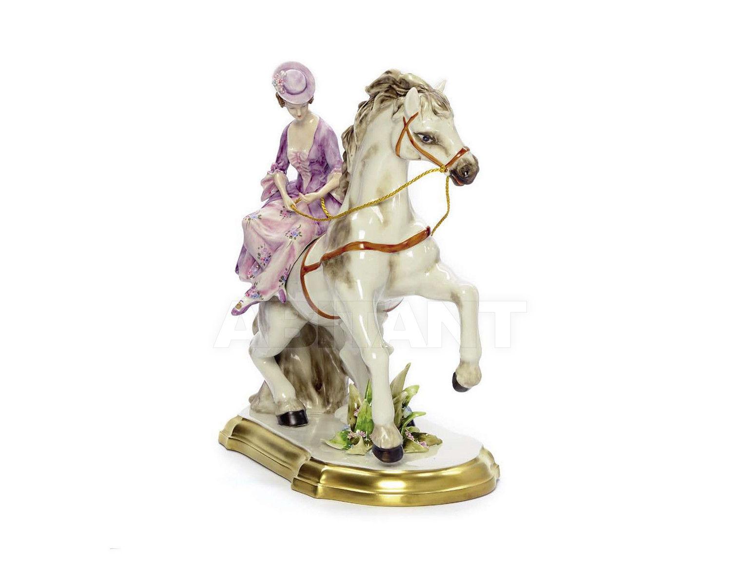 Купить Статуэтка HORSE WITH LADY Villari Capodimonte T.01803-002
