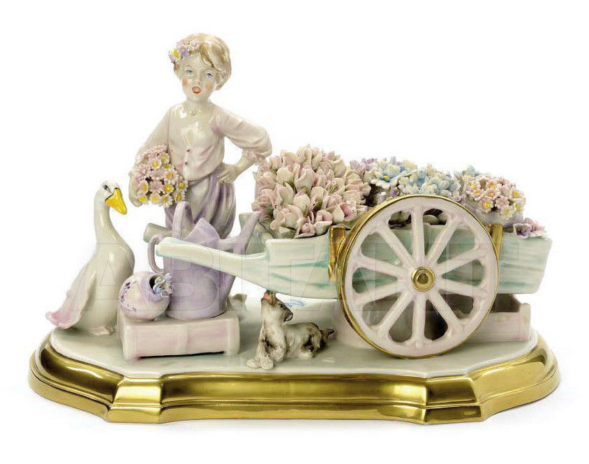 Купить Статуэтка THE FLOWER GIRL Villari Capodimonte T.01850-002