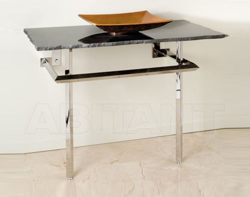 Купить Консоль Stone Forest Консоли и базы раковин SS-03 (stainless steel) с топом BL (black granite)