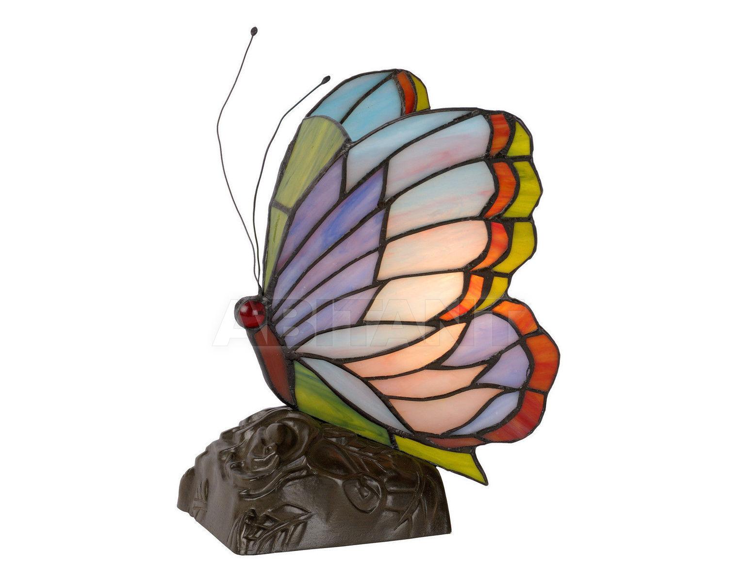 Купить Лампа настольная BUTTERFLY Lucide  Tiffany 15505/01/39