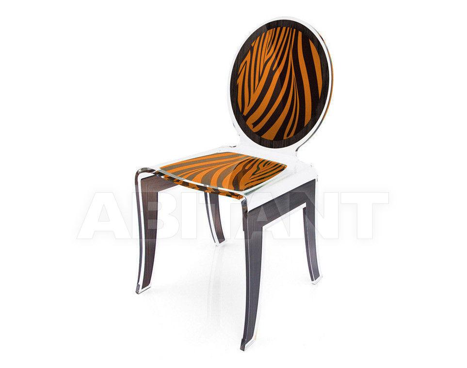 Купить Стул Acrila Wild Wild medallion chair Zebra Orange