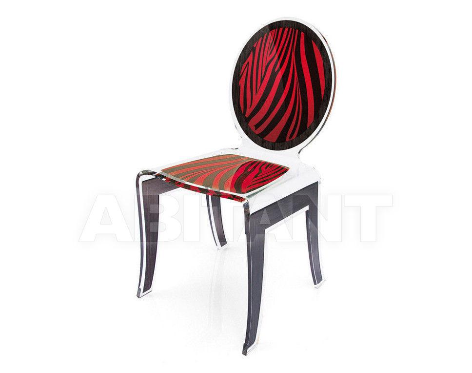 Купить Стул Acrila Wild Wild medallion chair Zebra Red