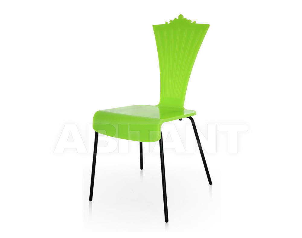 Купить Стул Acrila Outdoor colored Chair with metal legs Green
