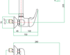 Смеситель для раковины Fiore Aqua 39 CR 4240 Современный / Скандинавский / Модерн