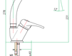 Смеситель для раковины Fiore Aqua 37 CR 4300 Современный / Скандинавский / Модерн
