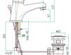 Смеситель для раковины Fiore Aqua 38 CR 2210 Современный / Скандинавский / Модерн