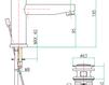 Смеситель для раковины Fiore Aqua 44 CR 5270 Современный / Скандинавский / Модерн