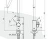 Смеситель для раковины Rubinetteria Paffoni L E V E L LEA 180 Современный / Скандинавский / Модерн