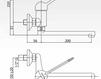 Смеситель для раковины Cezares Rubinetteria LVPMST2006LS Современный / Скандинавский / Модерн