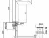 Смеситель для раковины Cezares Rubinetteria LVBHEV2018000 Современный / Скандинавский / Модерн