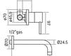 Смеситель для раковины Quadrodesign Bathroom 295 Современный / Скандинавский / Модерн