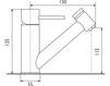 Смеситель для кухни Giulini Cucina 6517 Современный / Скандинавский / Модерн