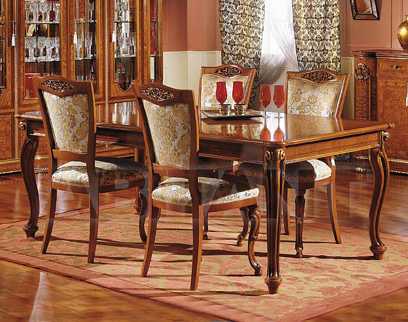 Купить Стол обеденный Marzorati Reale TAVOLO RETTANGOLARE CON PROLUNGHE INCORPORATE REALE