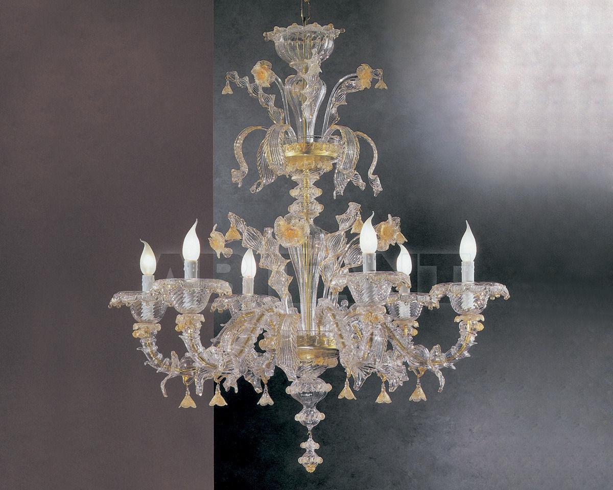 Купить Люстра Cavalliluce di Mirco Cavallin Venice 212L6 trasparente oro
