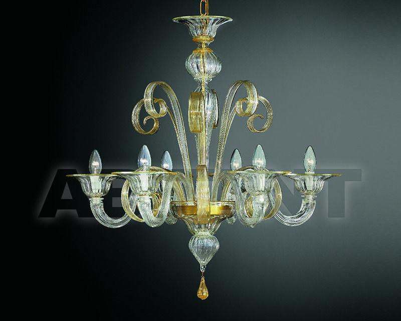 Купить Люстра Lavai lavorazione vetri artistici di Giuliano Statua & C. 2007 206/6 trasparente oro