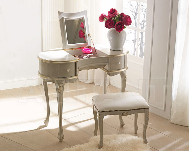 Купить Столик туалетный 2 Elle snc di Lenzi P. e P.  News VERSIONE IN FOGLIA ORO Petineuse