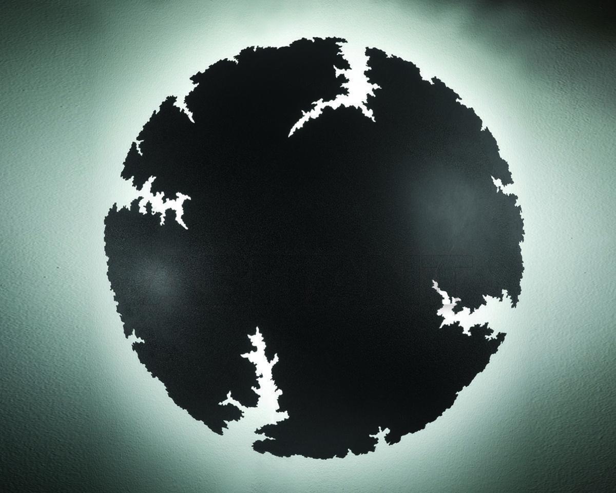 Купить Светильник настенный Disegno Luce Srl 2011 CRASH W Ø 60 BLACK