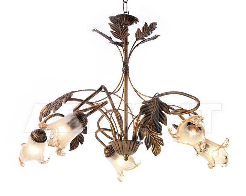 Купить Люстра Ciciriello Lampadari s.r.l. Lighting Collection 2490 ruggine lampadario 5 luci
