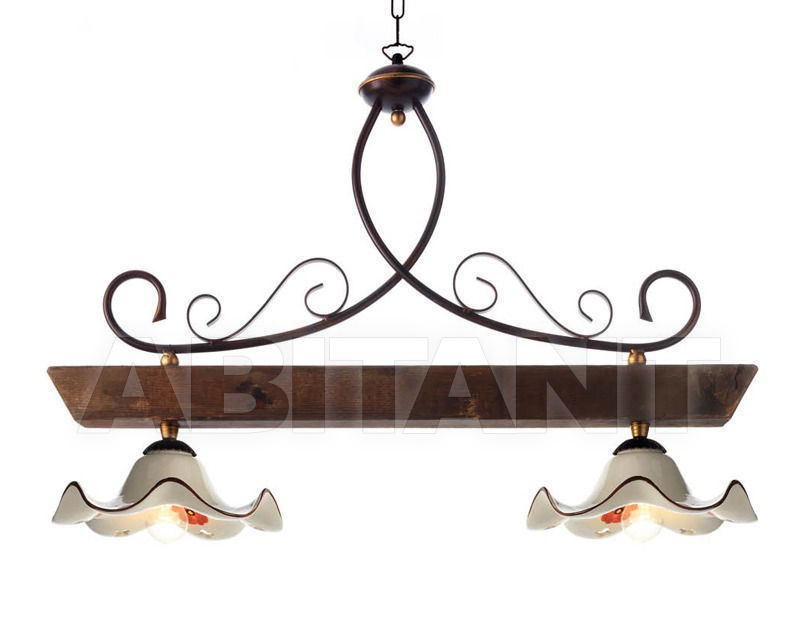 Купить Светильник Ciciriello Lampadari s.r.l. Lighting Collection 2015 ruggine sospensione 2 luci