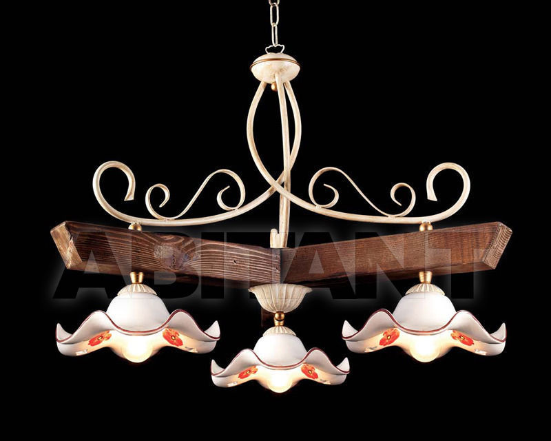 Купить Светильник Ciciriello Lampadari s.r.l. Lighting Collection 2015 avorio sospensione 3 luci