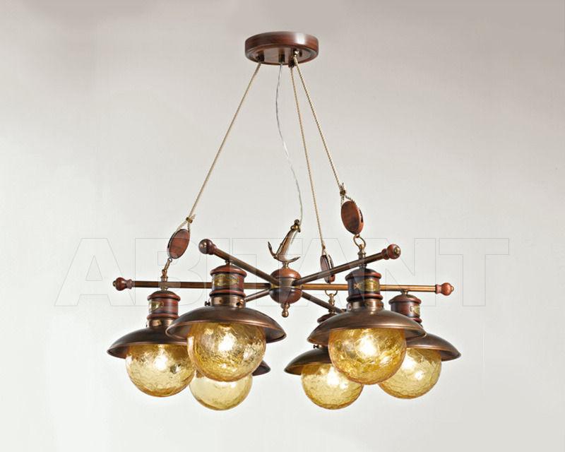 Купить Люстра Cremasco Illuminazione snc Laguna Veneta 637/6S-BR-AM