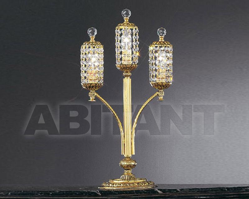 Купить Лампа настольная Asfour Crystal Crystal 2013 TL 921/3/3 Gold Patina.Oct*Ball*Drop