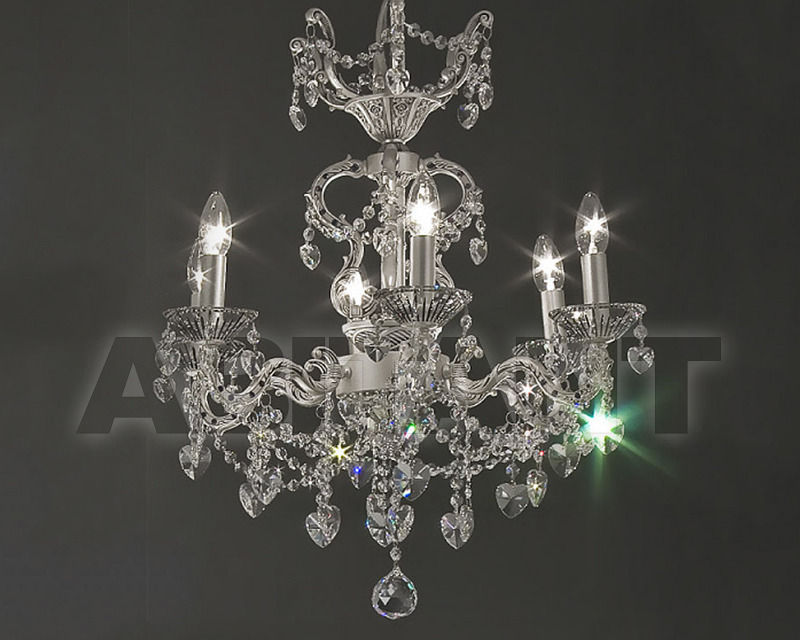 Купить Люстра Asfour Crystal Crystal 2013 CH 15050/6 Chrome Antiuce Patina Pear