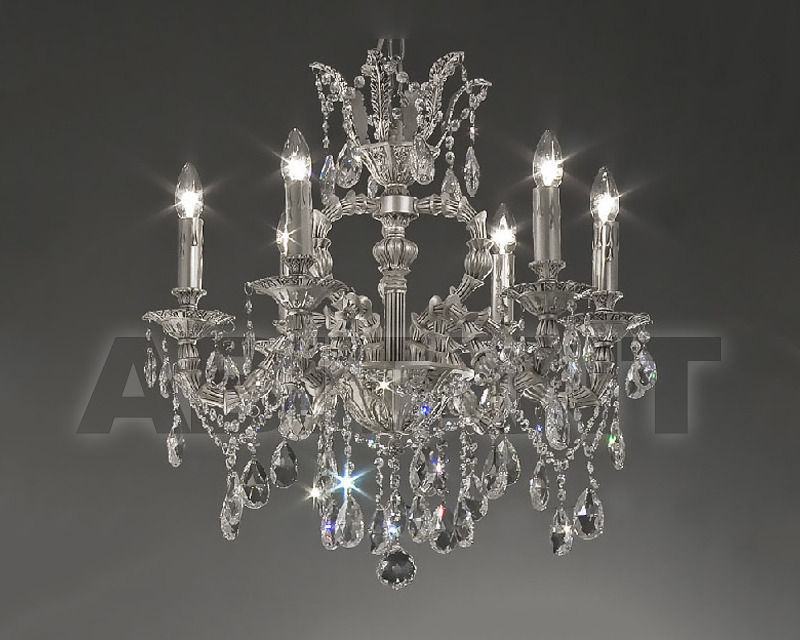 Купить Люстра Asfour Crystal Crystal 2013 CH 15057/6 Chrome Antiuce Pear