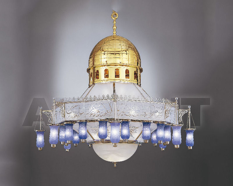 Купить Люстра Asfour Crystal Crystal 2013 CH 200*200 Alaqsa  Mosque Gold*Chrome
