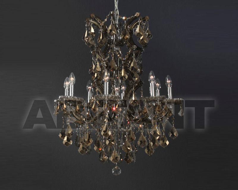 Купить Люстра Asfour Crystal Crystal 2013 CH 293/10+1 CHROME PEND HONEY
