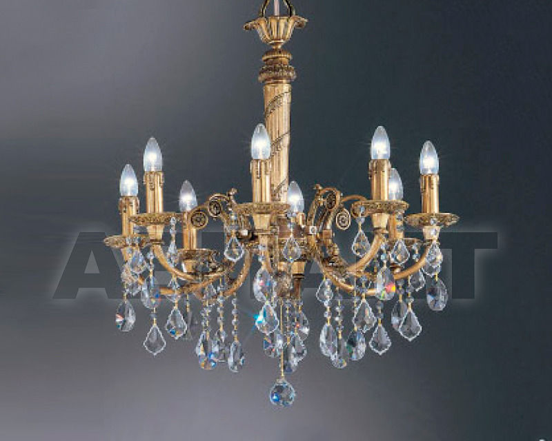 Купить Люстра Asfour Crystal Crystal 2013 CH 382/1/8 antique patina PEND x PEAR