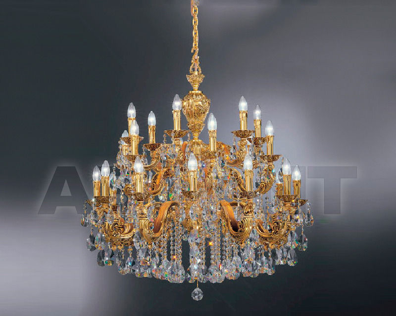 Купить Люстра Asfour Crystal Crystal 2013 CH 40/18/18 Gold Patina Pear