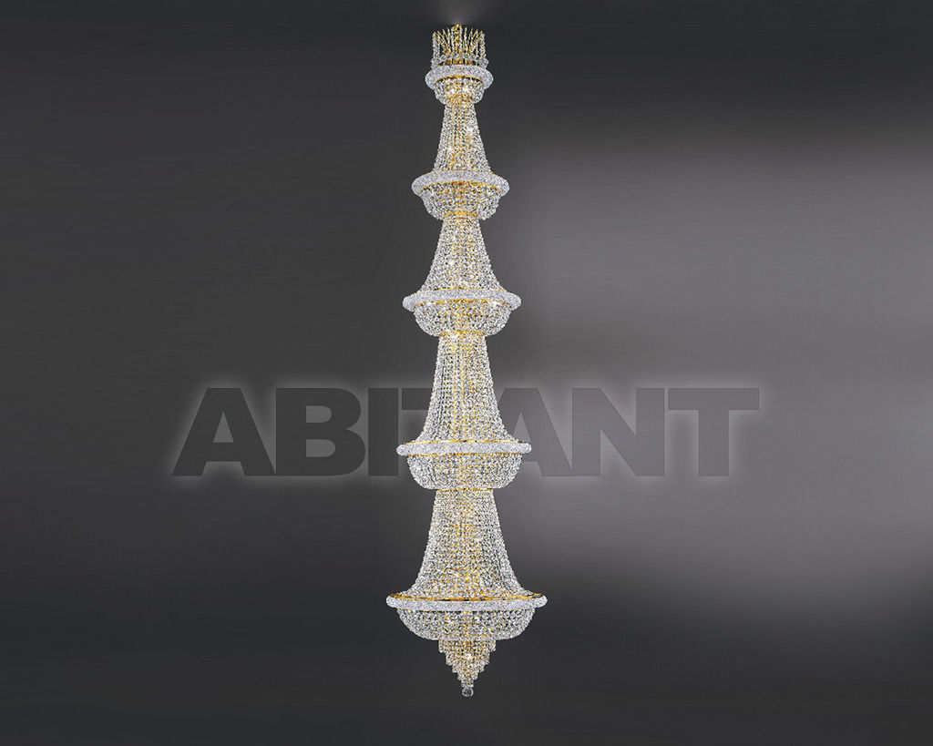 Купить Люстра Asfour Crystal Crystal 2013 CH 4256/70/320 Octagons*Beads GOLD