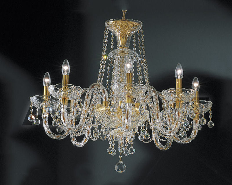 Купить Люстра Asfour Crystal Crystal 2013 CH 504/6 Gold BALL