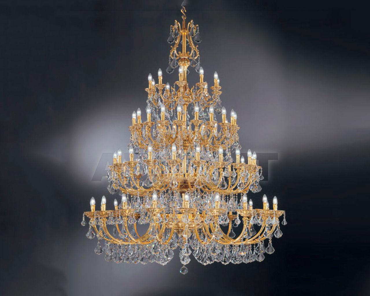 Купить Люстра Asfour Crystal Crystal 2013 CH 5110/70  GOLD PATINA PEND 902