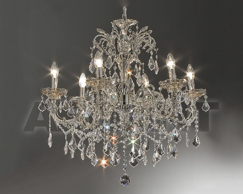 Купить Люстра Asfour Crystal Crystal 2013 CH 55225/8 Chrome Patina Pend