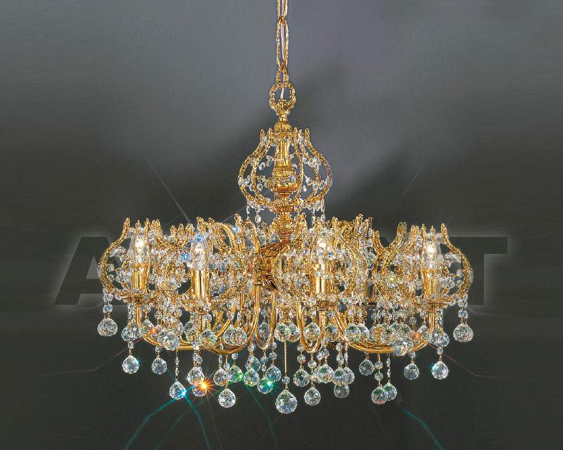 Купить Люстра Asfour Crystal Crystal 2013 CH 760/68/4 Gold Patina .Octagons*Ball