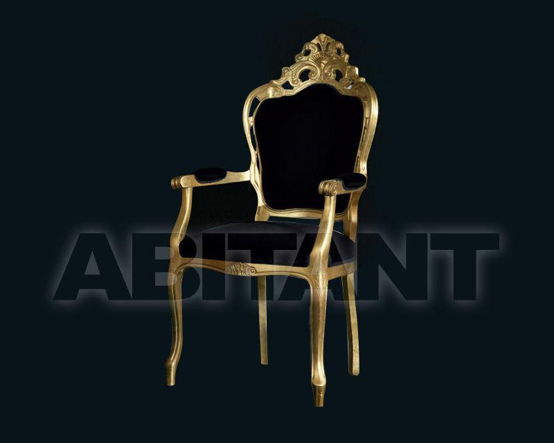 Купить Стул с подлокотниками Of Interni by Light 4 srl Black&white MM.8010/2