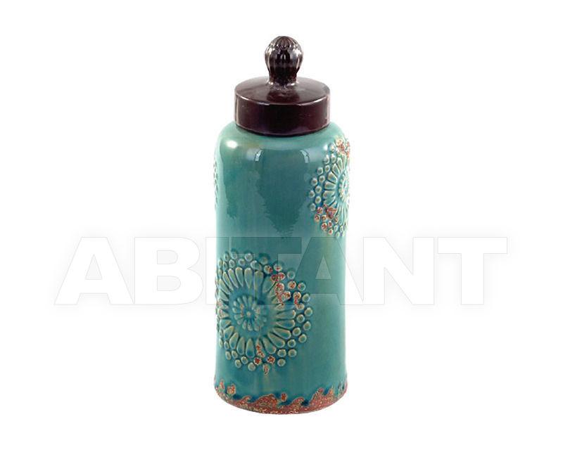 Купить Ваза Turquoise Mehndi Stoneware Lidded Jar Gramercy Home 2014 1/6-0124