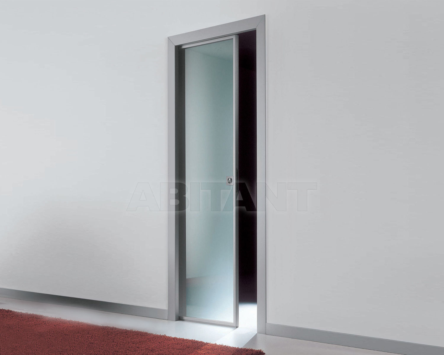 Купить Дверь  стеклянная Res Italia Doorscollection LUNA Sliding door into the wall