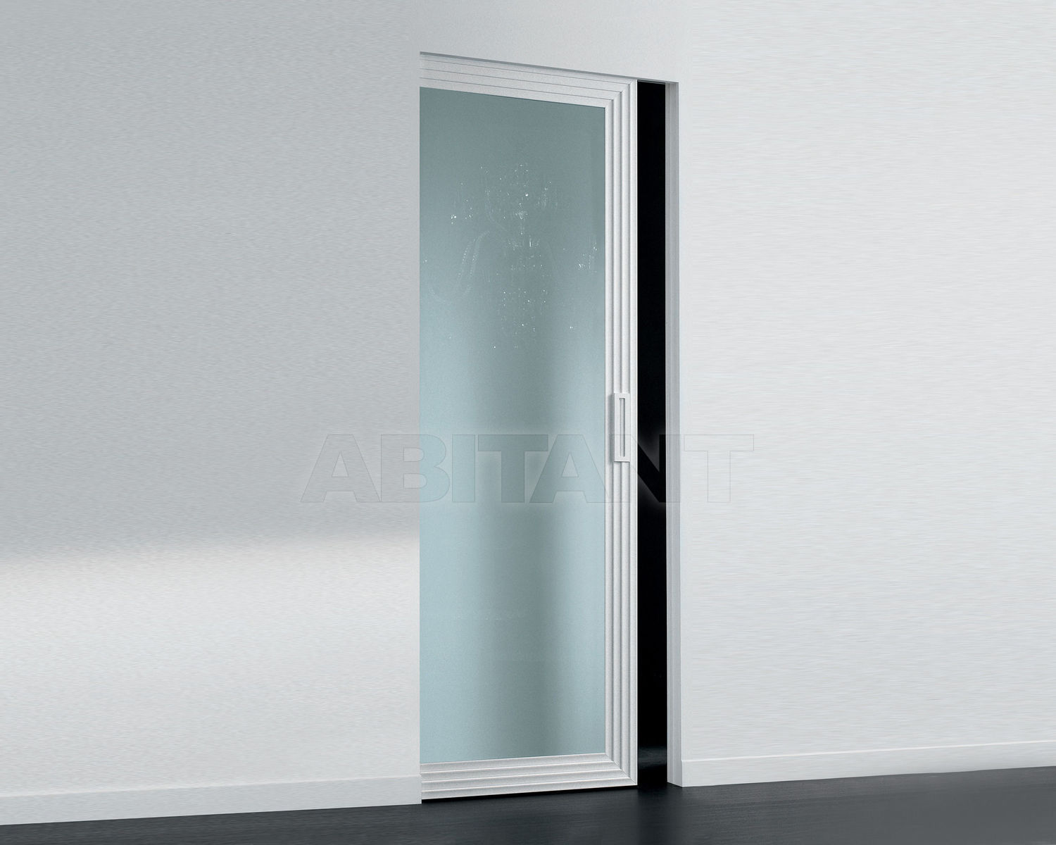Купить Дверь  стеклянная Res Italia Doorscollection DECÓ Single sliding door into the wall