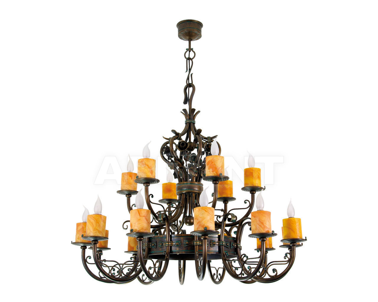 Купить Люстра Canina FMB Leuchten Schmiedeeisen Lampen Und Leuchten 94178