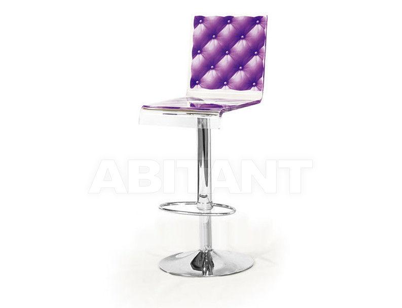 Купить Барный стул Acrila Capiton Capiton Bar stool pedestal leg violet