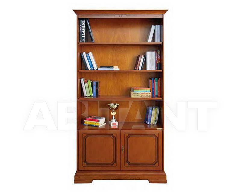 Шкаф книжный терракотовый domus mobili 1801 2 , каталог корп.
