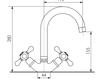 Схема Смеситель для кухни Giulini Cucina S552 Современный / Скандинавский / Модерн