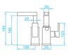 Схема Смеситель для раковины Giulini Plp PLP 060B1 Современный / Скандинавский / Модерн