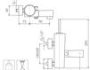 Схема Смеситель настенный Giulini Quack 9101 Современный / Скандинавский / Модерн
