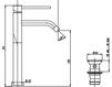 Схема Смеситель для раковины Giulini Futuro 6596/SC Современный / Скандинавский / Модерн