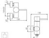 Схема Смеситель настенный Giulini Futuro 6508 Современный / Скандинавский / Модерн