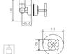 Схема Встраиваемый смеситель Giulini Elica 9215 Современный / Скандинавский / Модерн